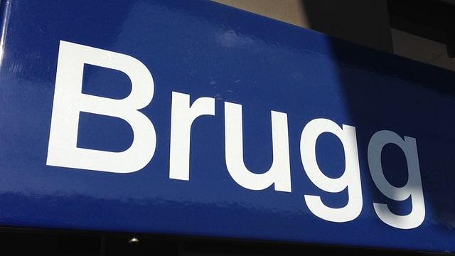 SBB-Schild Brugg
