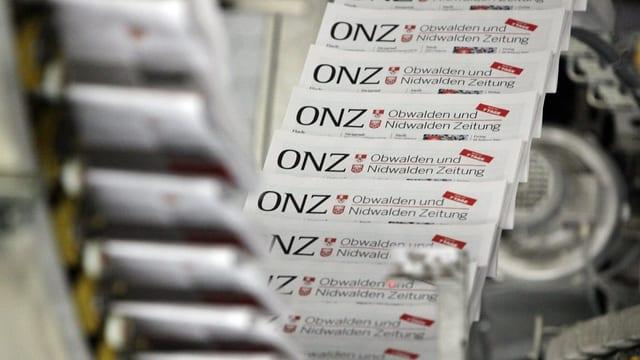 Exemplare der ONZ auf der Druckerei.