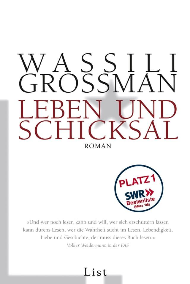 Buchcover: Autor und Buchtitel in grossen Lettern auf weissem Hintergrund mit einem grauen Stern.