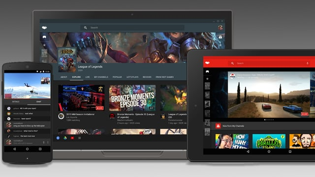 Smartphone, Browser und Tablet mit der neuen Oberfläche