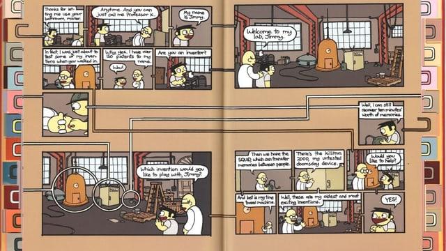Zwei Seiten aus dem Comic «Meanwhile» von Jason Shiga.