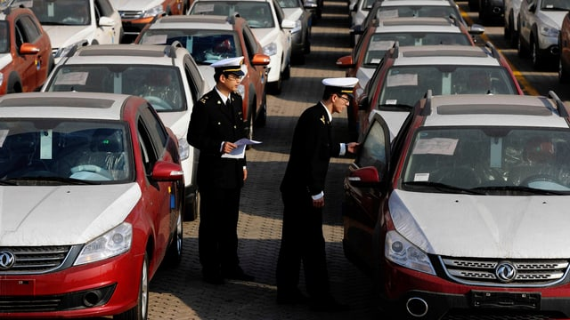 autos chinais, pronts per l'export