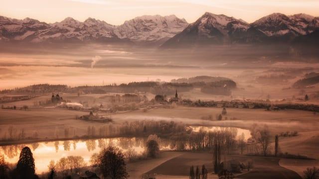 Vereisestes Mittelland am Mittwochmorgen