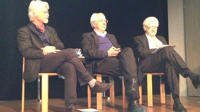 Von links: Markus Manfred Jung, Yves Bisch und Beat Trachsler.