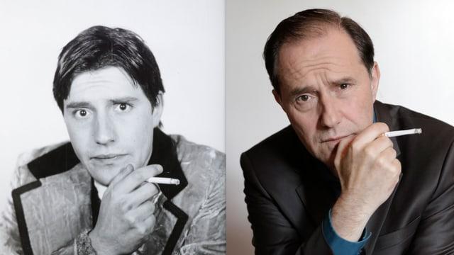 Stefan Kurt 1984 und 2016.