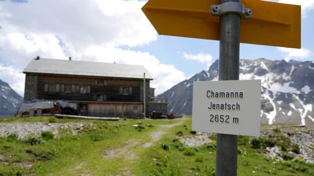 Die Jenatschhütte.