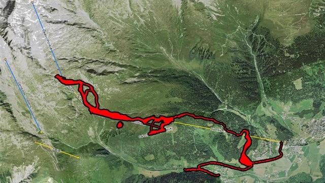 Las pistas ch'èn previsas d'ennavar en il territori da skis da Mustér.