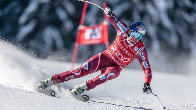 Il skiunz Norvegiais Aksel Svindal durant il Super-G a Kitzbühel