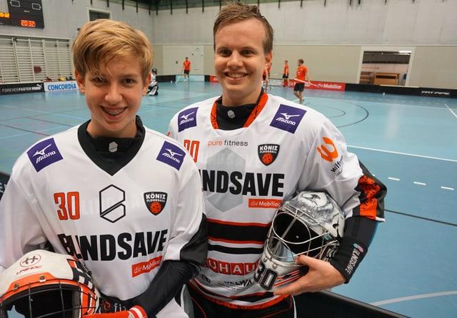 Tim (13) mit Vorbild Patrick Eder.