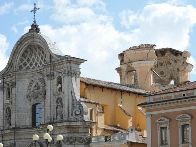 Die Kirche Santa Maria del Suffragio wurde stark beschädigt.