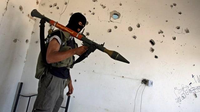 Porträt von einem Hamas-Kämpfer.