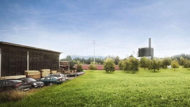 Das geplanten Holzheizkraftwerk in Haltikon bei Küssnacht (SZ)