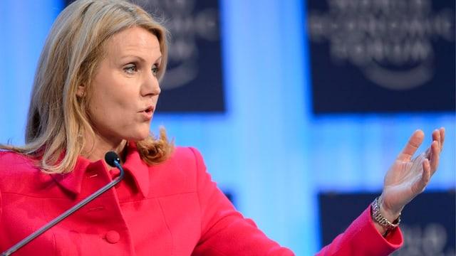 Helle Thorning-Schmidt beim WEF