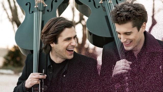 Die kroatischen Cellisten Luka Šulić and Stjepan Hauser alias 2Cellos