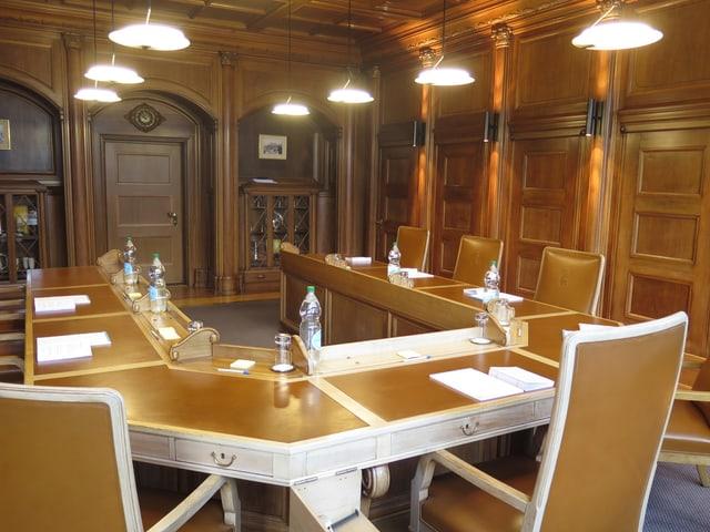 Tisch im Regierungsrats-Zimmer in Herisau