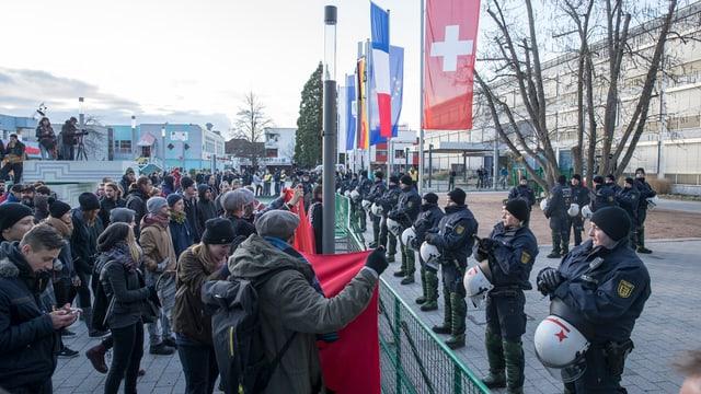 Pegida-Demonstration in Weil am Rhein vom November.