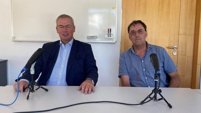 Per tadlar: La debatta tranter Peter Nadig e Simon Willi