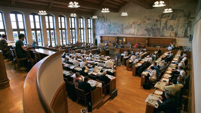 Blick in den Ratssaal in Bern.