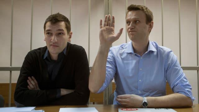 Oleg und Alexej Nawalny.