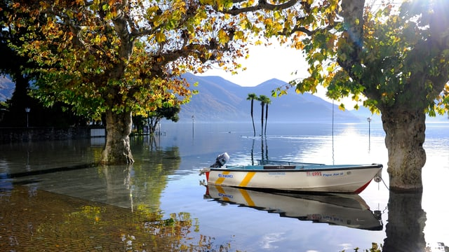 Nach enormen Niederschlägen trat Mitte November der Lago Maggiore über die Ufer.