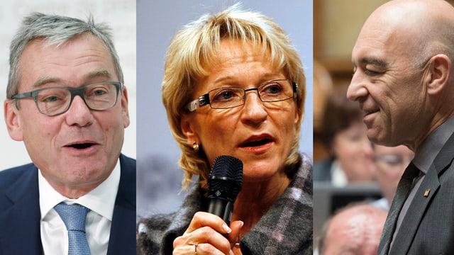 Ihre Namen sind schon im Spiel: Ruedi Noser (FDP), Rita Fuhrer (SVP) und Daniel Jositsch (SP).