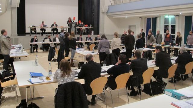 Abstimmung im Einwohnerrat Wohlen.