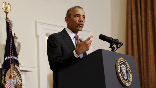 Obama an Rednerpult
