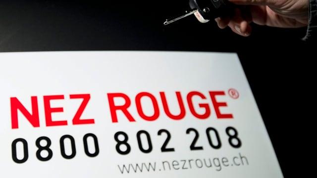 Die Telefonnummer der Organisation «Nez Rouge»
