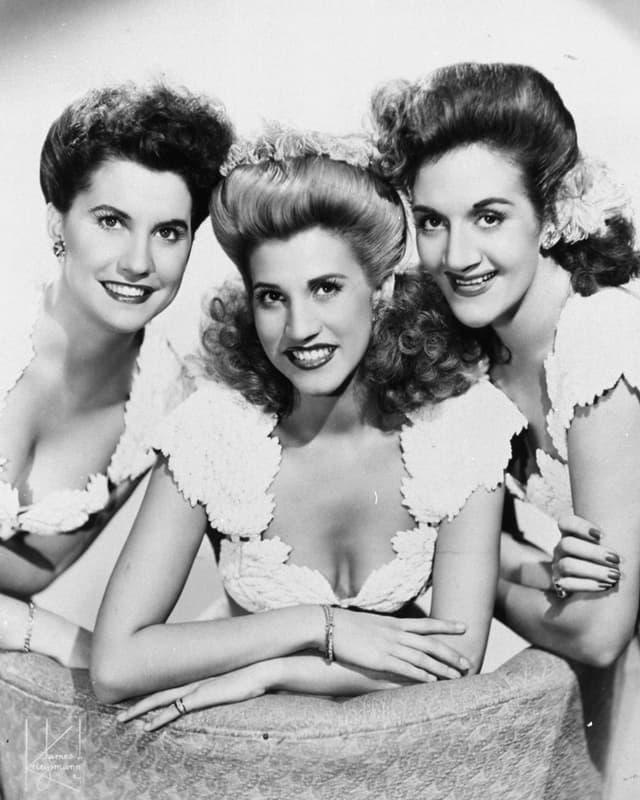 Aufnahme von 1942 der Andrews Sisters