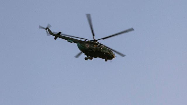 Russischer Kampfhelikopter (Aufnahme vom März 2014)