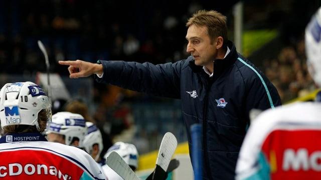 Der neue Trainer Christian Weber auf einem Bild während seiner letzten Trainerstation bei den Rapperswil-Jona Lakers