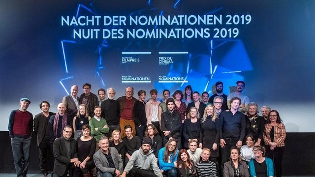 Purtret dals acturs e las acturas sco era reschissurs euv. ch'èn nominads per il Premi da film svizzer.