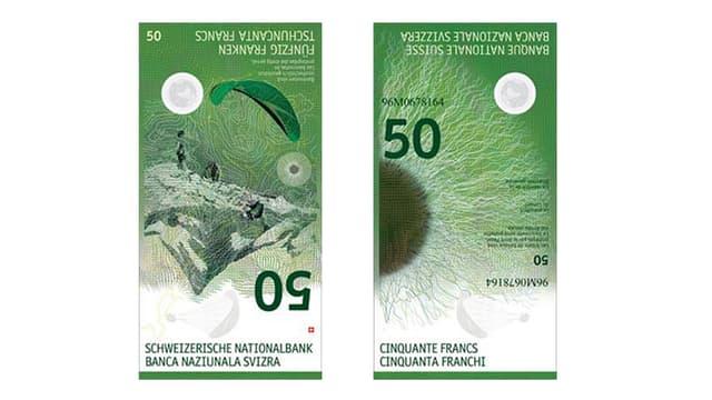 Ein Entwurf der neuen Fünfziger-Note der Nationalbank.
