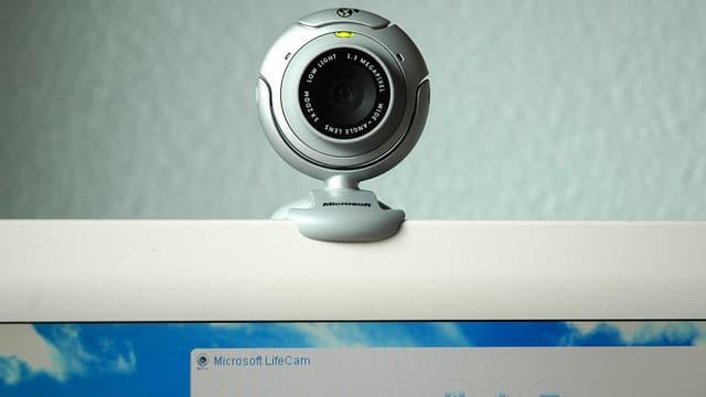Webcam auf einem Bildschirm