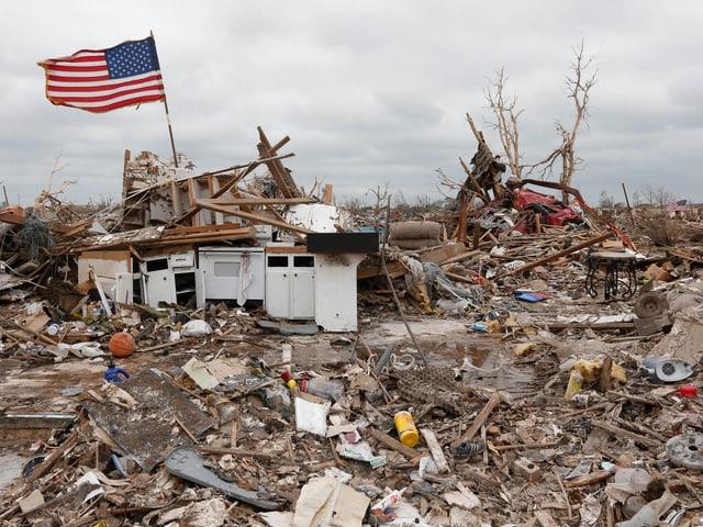 Ein zerstörte Vorort von Oklahoma City.