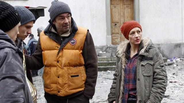 Stefan Gubser e Delia Meyer en scena da Tatort.