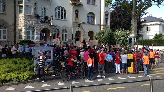 Gruppe von Demonstrierenden