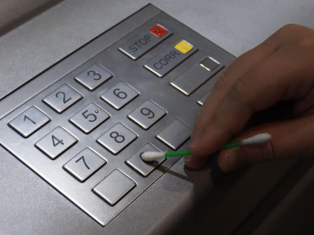 Zahlenfeld des Bankomates