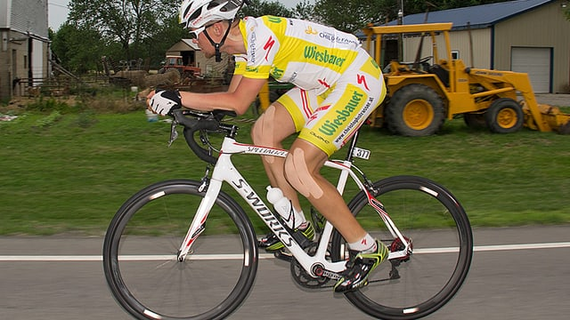 Christoph Strasser in voller Fahrt.