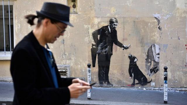 Graffiti von Banksy.