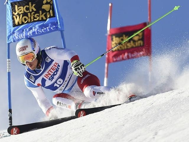 Carlo Janka fuhr im letzten Super-G der Männer in Val d'Isère auf Rang 4.