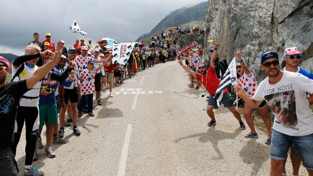 Der Aufstieg zur Alpe d'Huez.