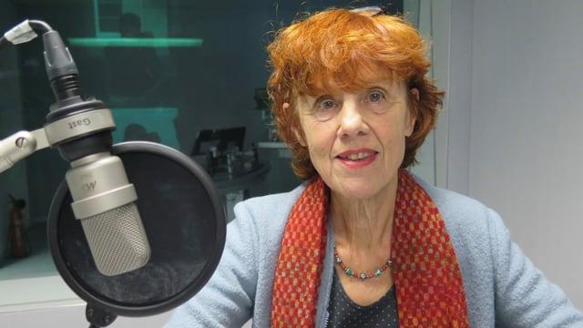 Marian Schneider im SRF Radiostudio