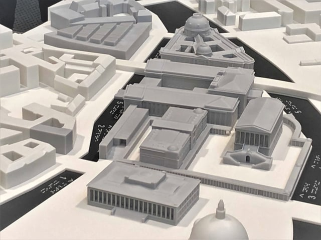 Ein Modell der Berliner Museumsinsel.