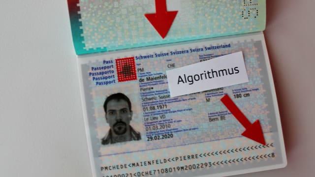 Geöffneter Schweizer Pass.