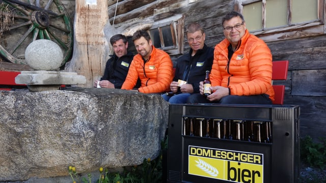 Ils bierers da sanester: Pius Giger, Andrea Gredig, Marco Berger e Reto Brot.