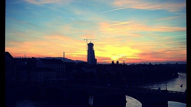 Sonnenaufgang in Basel.