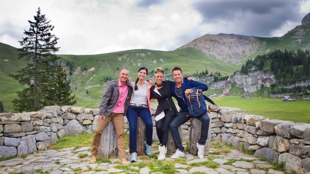 Fotografia (da san.): Jean-Marc Richard, Maria Victoria Haas, Clarissa Tami e Sven Epiney