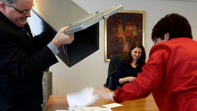 Auszählung der Stimmzettel in Nidwalden.