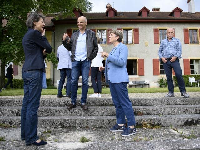 Bundesräte Simonetta Sommaruga, Alain Berset, Viola Amherd und Ueli Maurer.